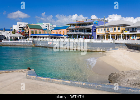 Stores on Harbour Drive, George Town, Grand Cayman, Cayman Islands, Greater Antilles, Caribbean - Stock Photo