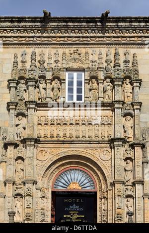 Hostal dos Reis Catolicos in Old Town,Santiago de Compostela,Galicia,Spain,Europe - Stock Photo