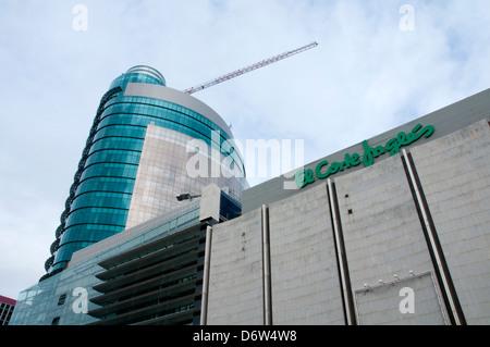 Titania Tower, El Corte Ingles. AZCA, Madrid, Spain. - Stock Photo