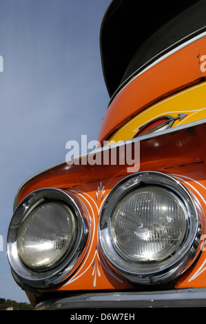 Detail of a old Leyland bus in Malta - Stock Photo