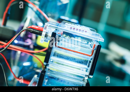Build a gel electrophoresis chamber - Stock Photo