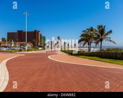 View of the Durban beach front skyline taken from Addington - Stock Photo
