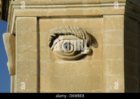 Close-up of a traditional Maltese gardjola (watchtower) in ... Symbols Of Watchfulness