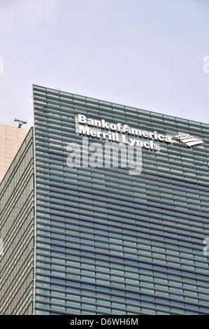 Bank of America Merrill Lynch Nihonbashi Tokyo Japan - Stock Photo