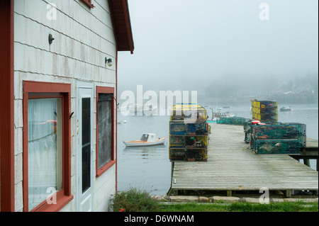 Fishing shack, Bernard, Mt Desert Island, Maine, USA - Stock Photo