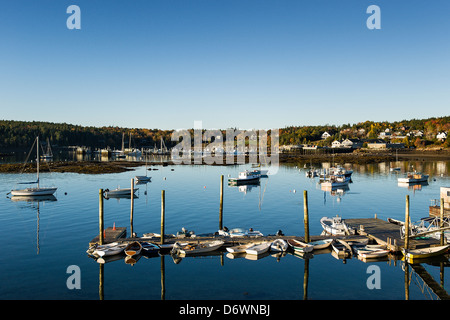 Scenic Southwest Harbor, Mt Desert Island, Maine, USA - Stock Photo