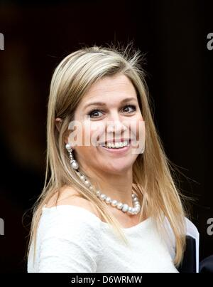 The Hague, The Netherlands. 23rd April, 2013. Crown Princess Maxima of The Netherlands attends the Koninginnedag - Stock Photo