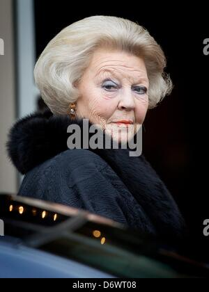 The Hague, The Netherlands. 23rd April, 2013. Queen Beatrix of The Netherlands attends the Koninginnedag concert - Stock Photo
