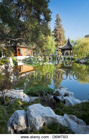 Chinese Garden at The Huntington Botanical Gardens, San Marino, California - Stock Photo