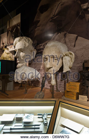 Visitors Center, Mount Rushmore National Memorial, Black Hills, South Dakota USA - Stock Photo