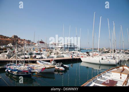 europe, italy, tuscany, argentario, porto santo stefano, port - Stock Photo