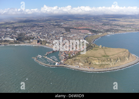 Aerial photograph of Scarborough North Yorkshire - Stock Photo