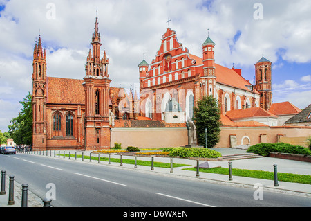 St Anne's church in Vilnius, Lithuania. UNESCO world heritage site. 15-th century - Stock Photo