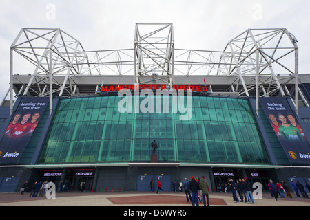 Old Trafford stadium is home to Manchester United. - Stock Photo