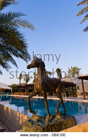 Swimming pool, Desert Palm Hotel, Dubai, United Arab Emirates - Stock Photo