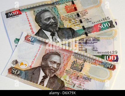 Kenya Shilling Currency Bank Notes - Stock Photo