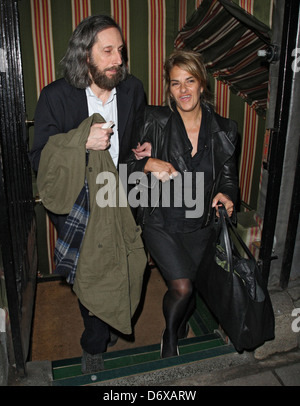 Tracy Emin Celebrities outside The Hawn Foundation Fundraising Gala held at Annabels London, England - 07.03.12 - Stock Photo