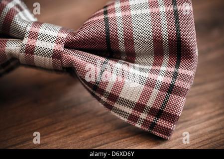 italian silk bow tie in close up - Stock Photo