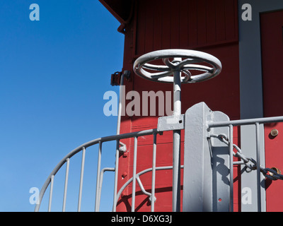 Old American railway wagon detail in Monterey California USA - Stock Photo