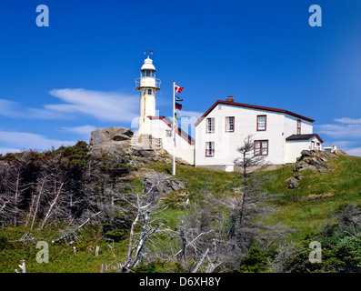 Cape Forchu Light house near Yarmouth;Canada;Nova Scotia;East Coast;Maritime; - Stock Photo