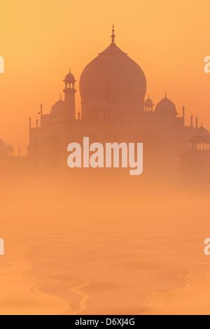 Skyline of Taj Mahal, Agra, Uttar Pradesh, India, UNESCO - Stock Photo