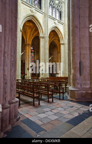 The interior of Saint Gatien cathedral. - Stock Photo