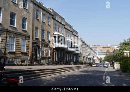 Georgian town houses on Charlotte St in Bristol - Stock Photo