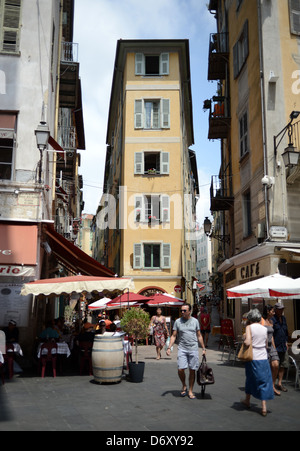 Nice, France, a narrow house in the Old Town - Stock Photo