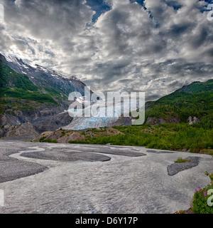 Exit Glacier Near Seward Alaska - Stock Photo
