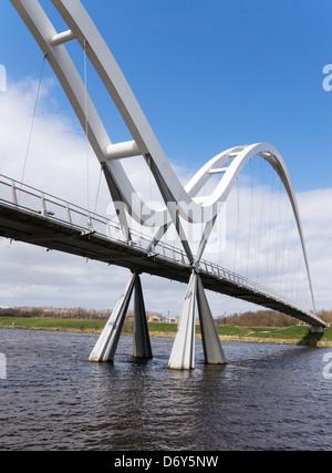The Infinity Bridge  Stockton-on-Tees north east England UK Stock Photo