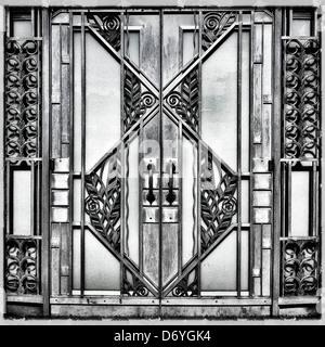 Ornate metal doors - Stock Photo