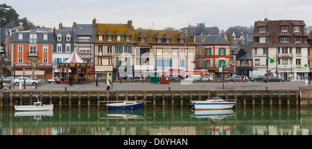 harbour of trouville-sur-mer, Normandy, France - Stock Photo
