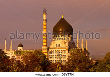 Yenidze (a former tobacco factory that looks like, but is not, a mosque), Dresden, Saxony, Germany - Stock Photo