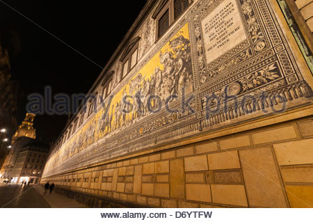 The 100 meter long Procession of Princes (the largest porcelain image in the world, made up of 25,000 tiles) which - Stock Photo
