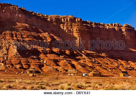 Vermillion Cliffs at Marble Canyon, Paria Canyon-Vermillion Cliffs Wilderness Area, Arizona, USA - Stock Photo