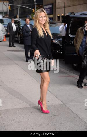 New York, USA. April 24, 2013Kate Hudson at talk show appearance for The Late Show with David Letterman - WED, Ed - Stock Photo