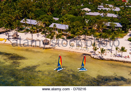 Aerial View, Cheeca Resort and Lodge, Islamorada Key, Florida Keys, Florida USA - Stock Photo