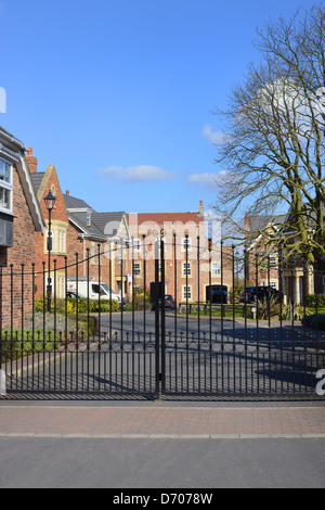 pretty gated community united kingdom - Stock Photo