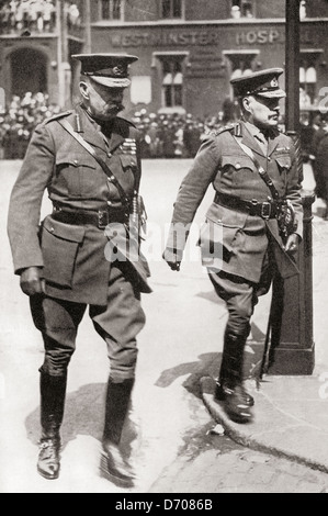 Field Marshal Kitchener, left and Field Marshal Robertson - Stock Photo