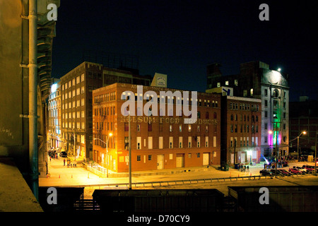 USA, Missouri, Kansas City, Haunted Houses near 12 Street Bridge in West Bottoms District - Stock Photo
