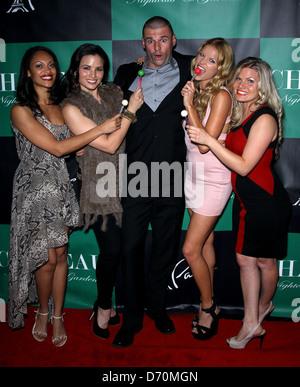 Cynthia Addai-Robinson, Katrina Law, Stephen Dunlevy, Ellen Hollman, Bonnie Sveen The Leading Ladies Of 'Spartacus: - Stock Photo
