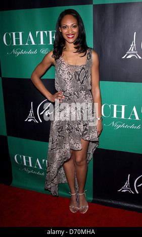 Cynthia Addai-Robinson The Leading Ladies Of 'Spartacus: Vengeance' Party at Chateau Nightclub and Gardens at Paris - Stock Photo