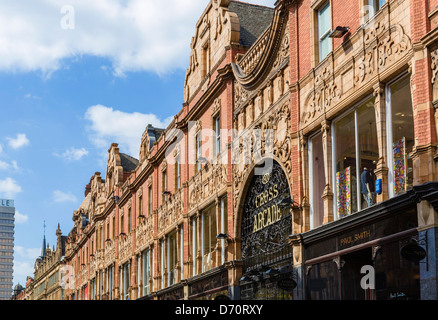 Buildings on historic King Edward Street in the Victoria Quarter, Leeds, West Yorkshire, UK - Stock Photo