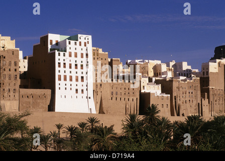 Yemen, Wadi Hadramawt, View Of Shibam, 'Manhattan Of The Desert', Old Town - Stock Photo