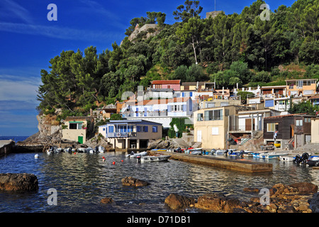 Fishermen's houses in the creek St Pierre - Stock Photo