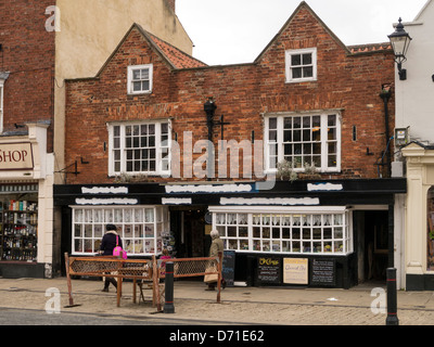 The Old Chemist Shop in England in Knaresborough, North Yorkshire - Stock Photo