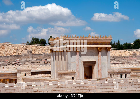 Model of Jerusalem at the 2nd Temple time - Stock Photo