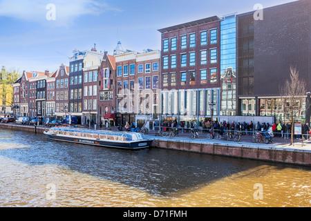 Amsterdam, Prinsengracht, Anne Frank House, North Holland, Netherlands - Stock Photo