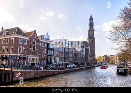 Amsterdam, Prinsengracht, Anne Frank House, Nordholland, Niederlande - Stock Photo
