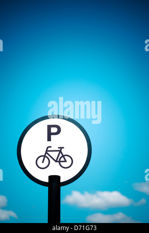 Bicycle parking signal - Stock Photo